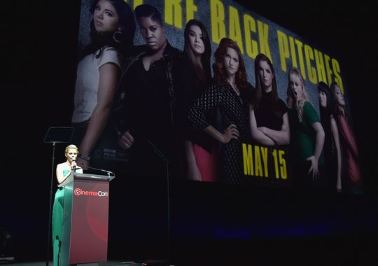 Elizabeth Banks At CinemaCon Presenting Pitch